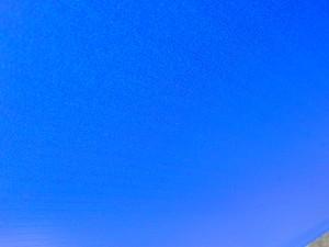 Background sky blue.