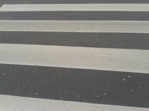 Zebra crossings.