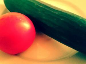 Cucumber tomato