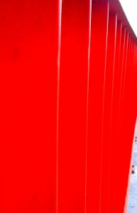 Fence red.