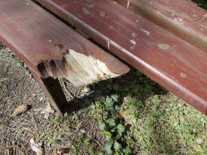 Bench broken